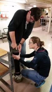Rob and Rachel working on ANGUS
