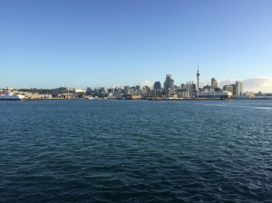 Auckland Harbor was we are headed to sea